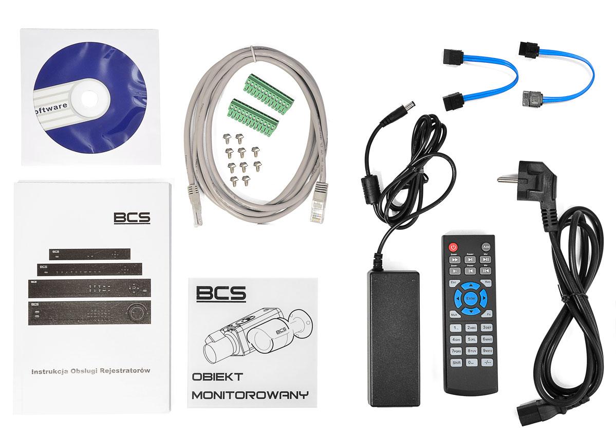 Akcesoria wchodzące w skład zestawu BCS-NVR32025ME