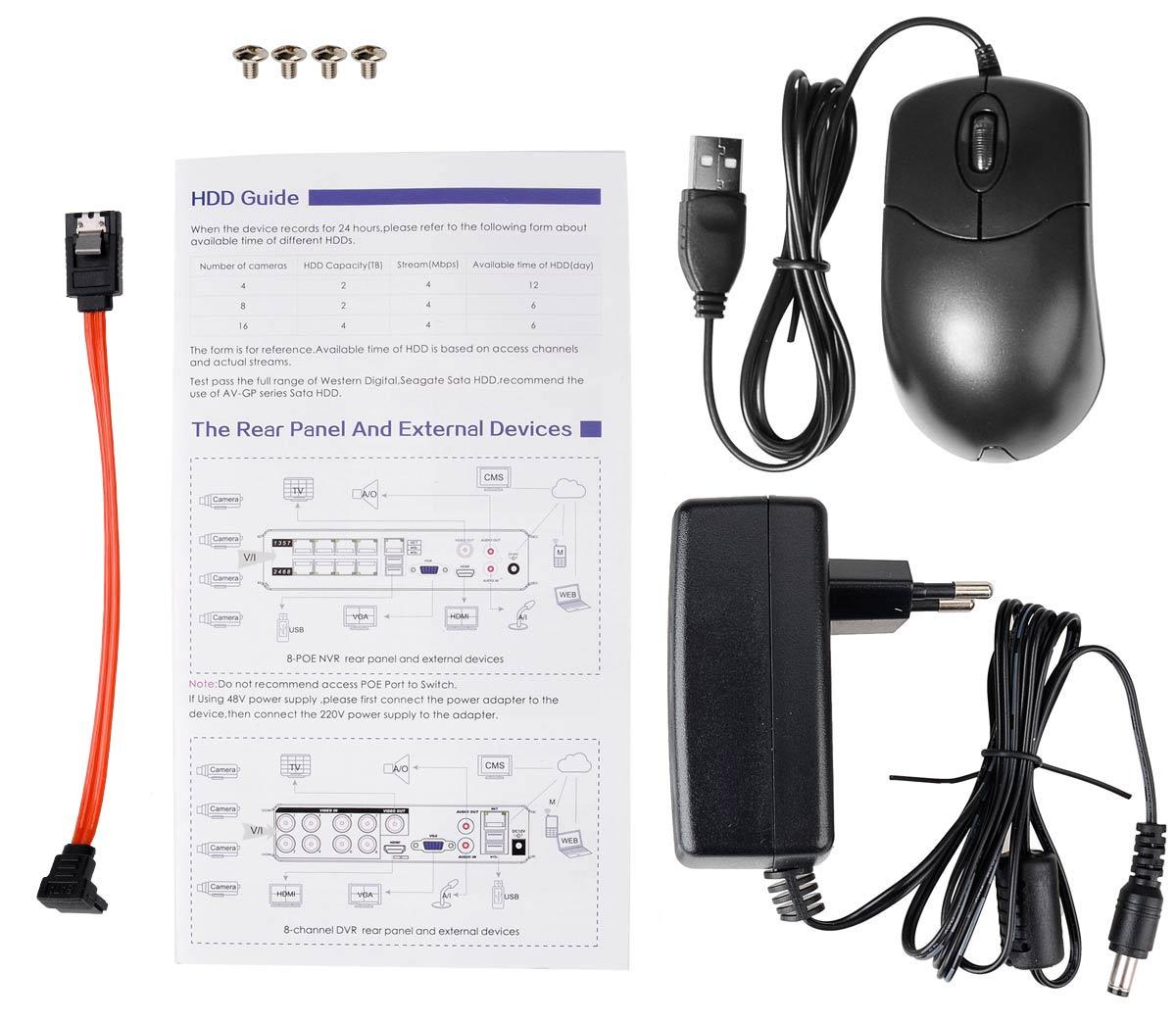 Akcesoria rejestratora BCS-QDVR0801ME