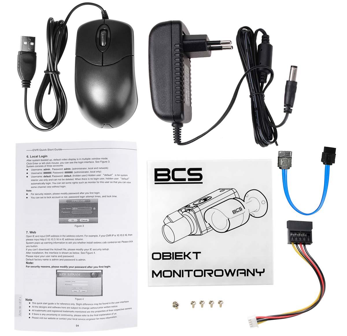 Akcesoria rejestratora BCS-XVR0801-III