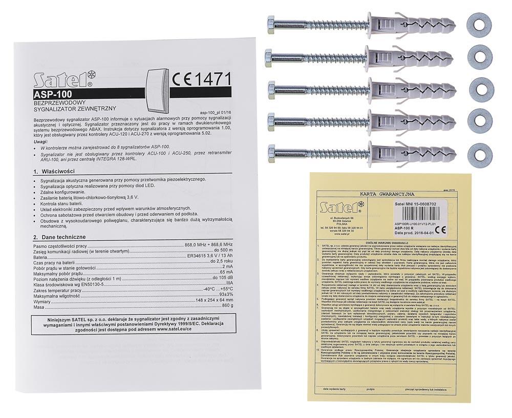 Akcesoria sygnalizatora ASP-100 R