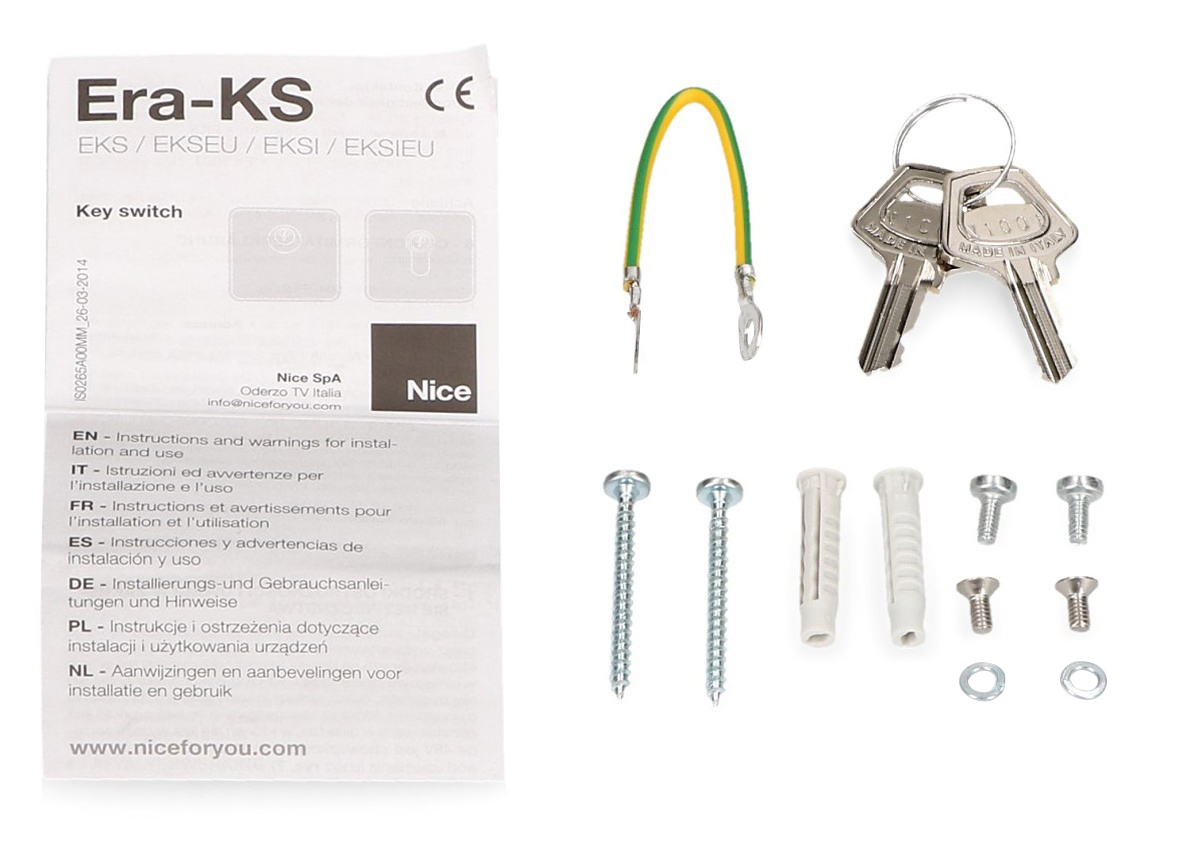 Akcesoria przełącznika kluczykowego EKSEU