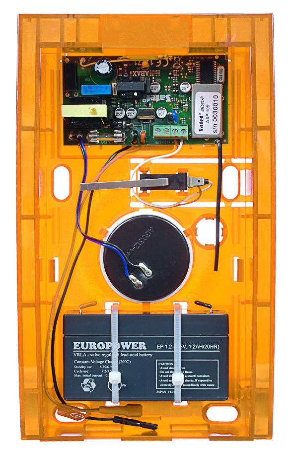 Wnętrze sygnalizatora ASP-105 O