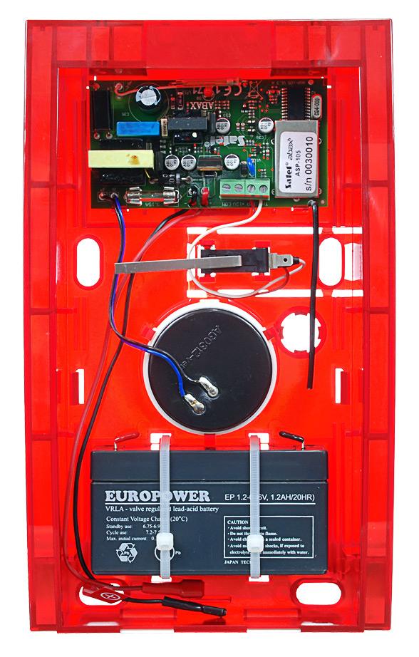 Wnętrze sygnalizatora ASP-105 R