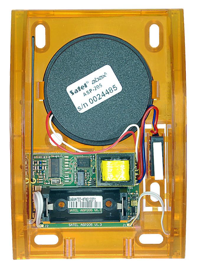 Wnętrze sygnalizatora ASP-205 O