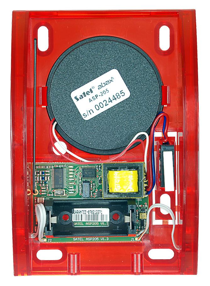 Wnętrze sygnalizatora ASP-205 R