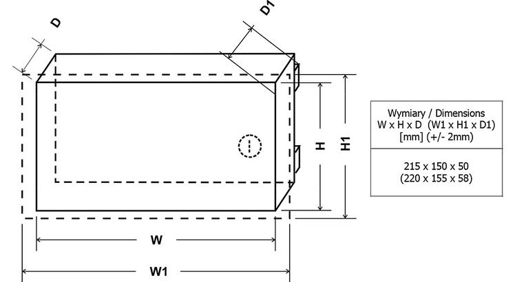 Wymiary obudowy AWO452