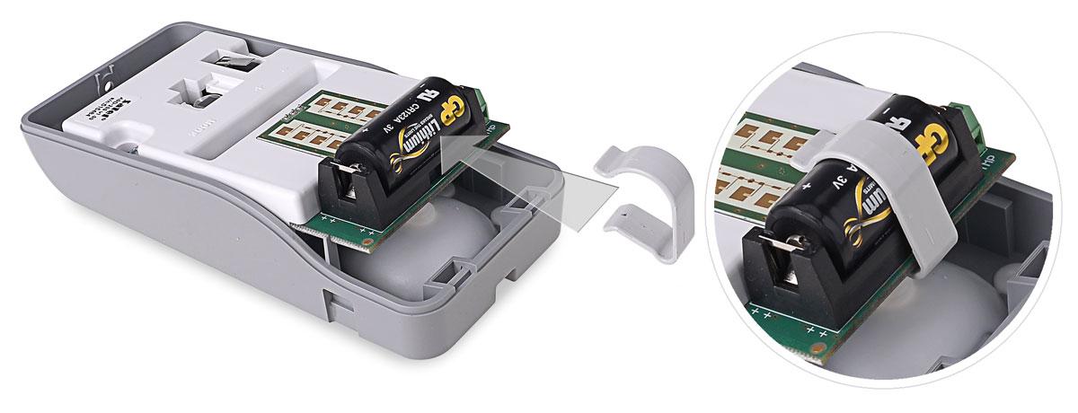 Zasilanie bateryjne czujki AOD-200 GY