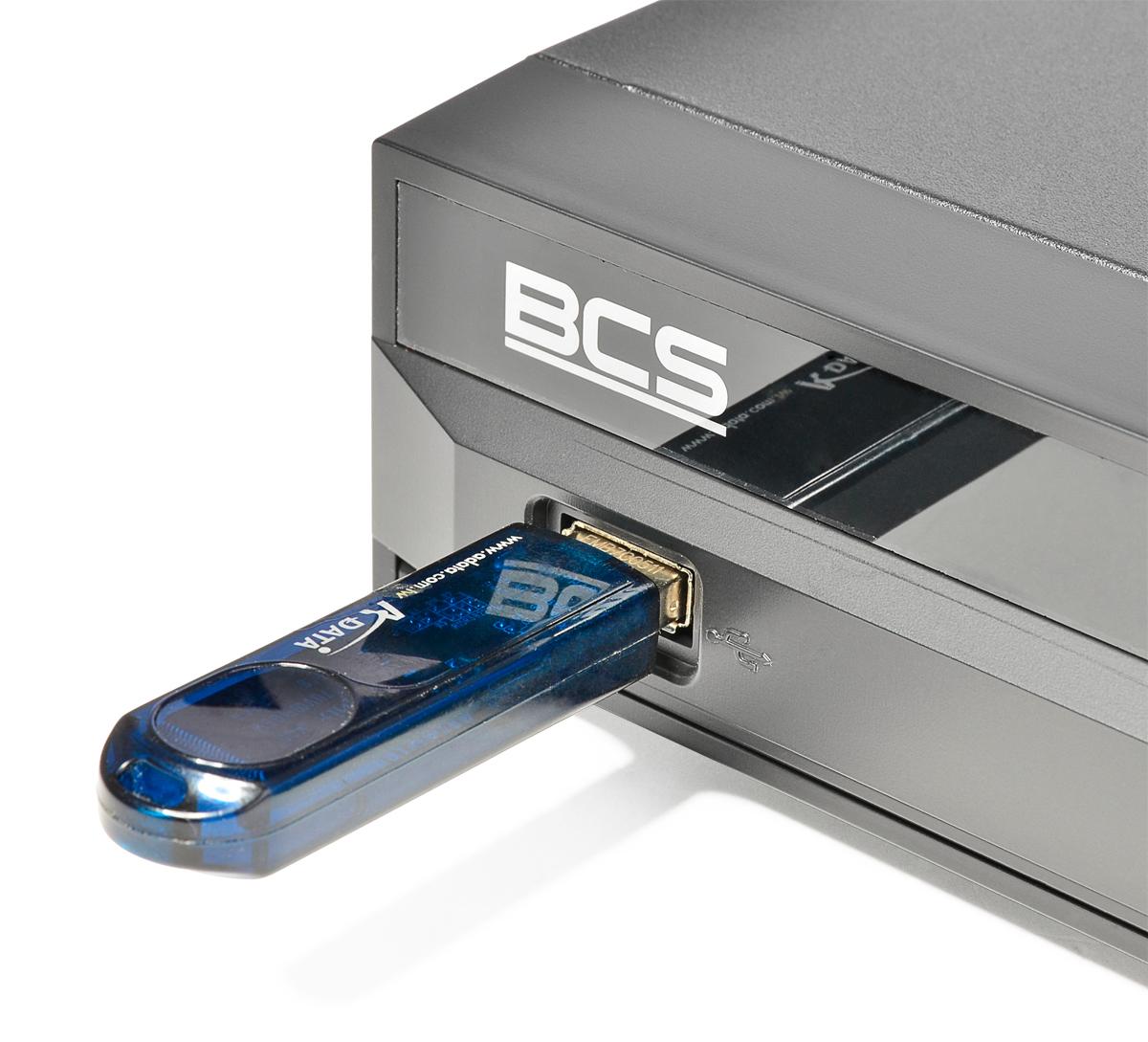 Port USB w rejestratorze BCS-NVR32025ME