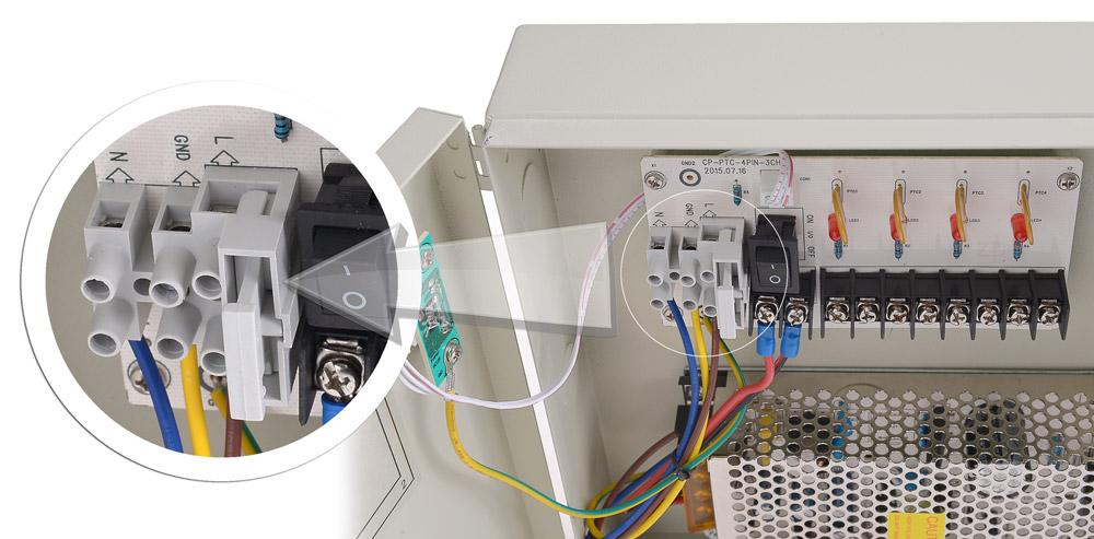 Główny bezpiecznik zasilacza 12V/5A/4O/BOX