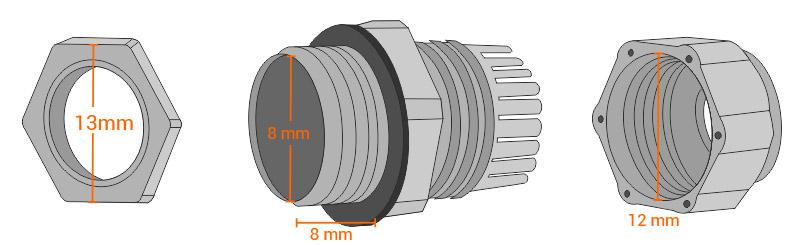 Przydatne wymiary dławnicy ML146