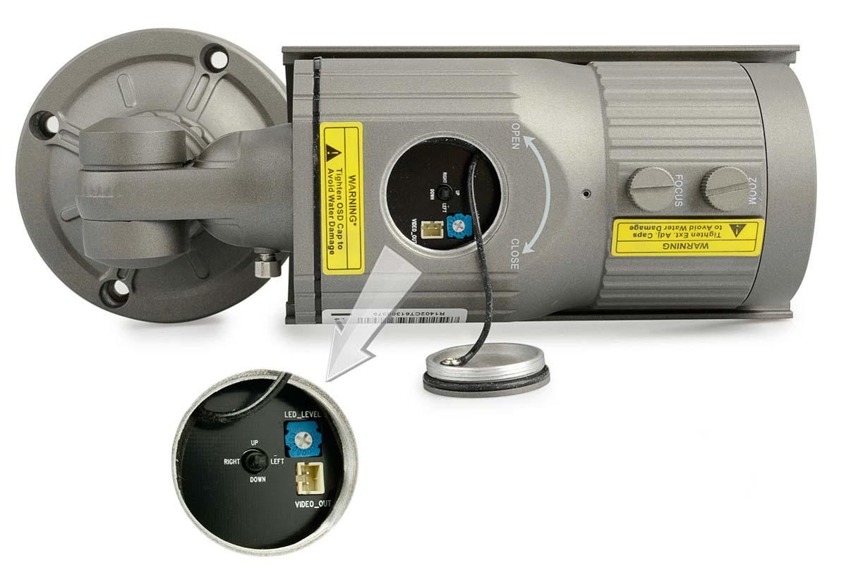 Regulacja LED i wyjście wideo ułatwiające instalację
