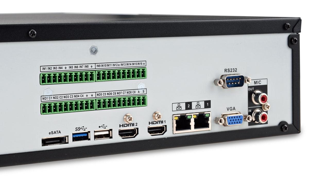 Gniazda rejestratora IP BCS-NVR12808-4K