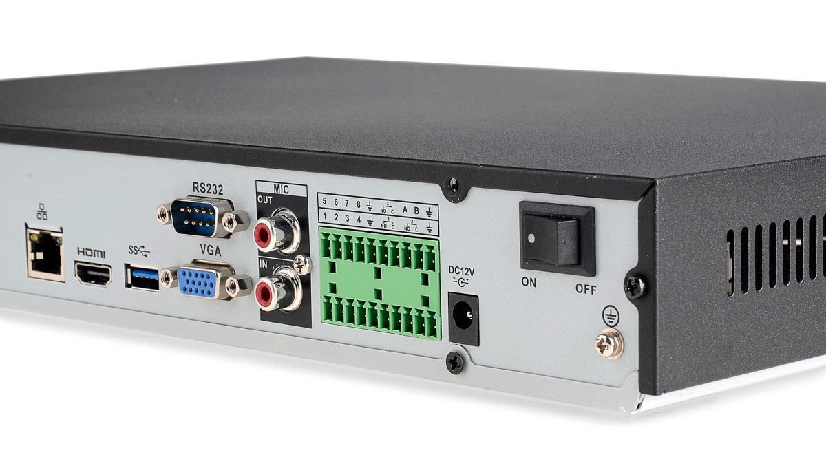 Gniazda rejestratora BCS-NVR1602-4K