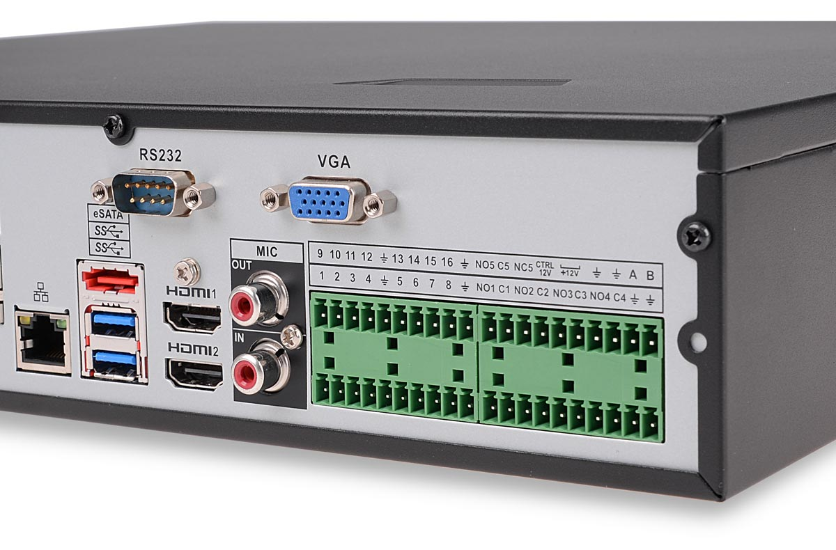 Gniazda rejestratora BCS-NVR1604-4K-P-II