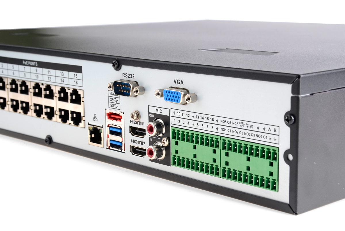 Gniazda rejestratora BCS-NVR1604-4K-P
