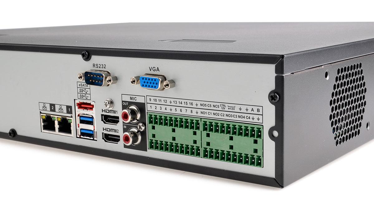 Gniazda rejestratora BCS-NVR1604-4K