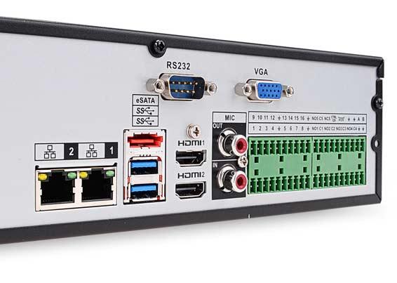 Gniazda rejestratora BCS-NVR3204-4K-II
