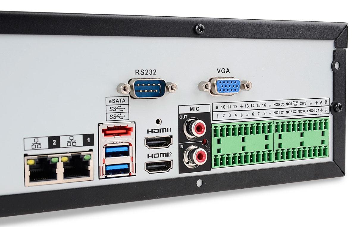 Wejścia / wyjścia rejestratora BCS-NVR3208-4K