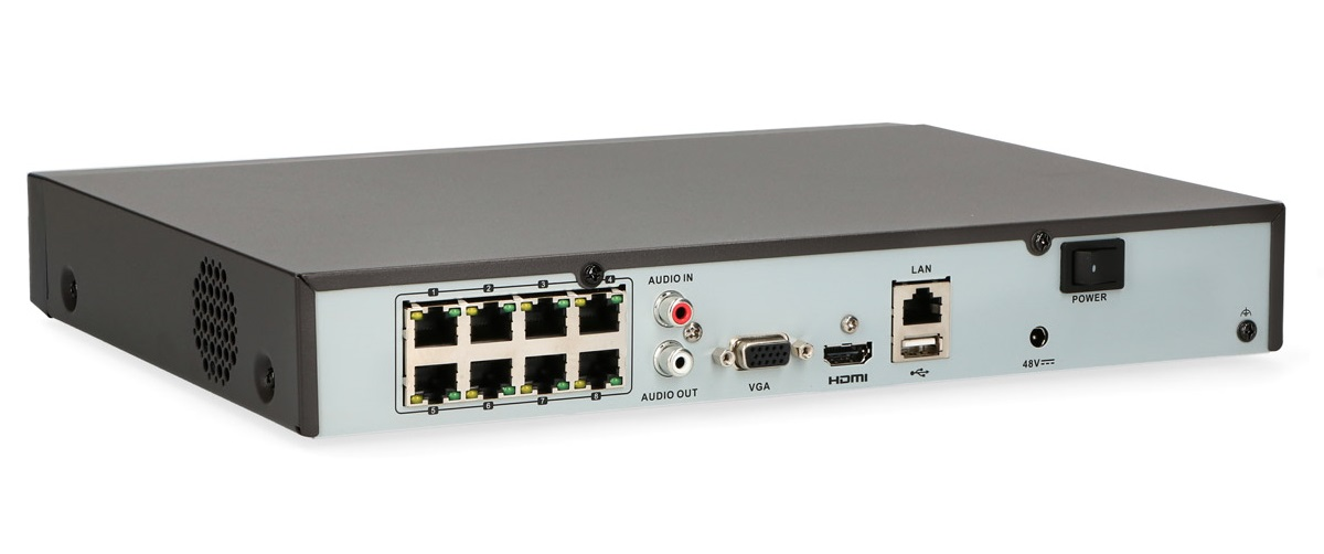 Gniazda rejestratora IP HWN-4108MH-8P