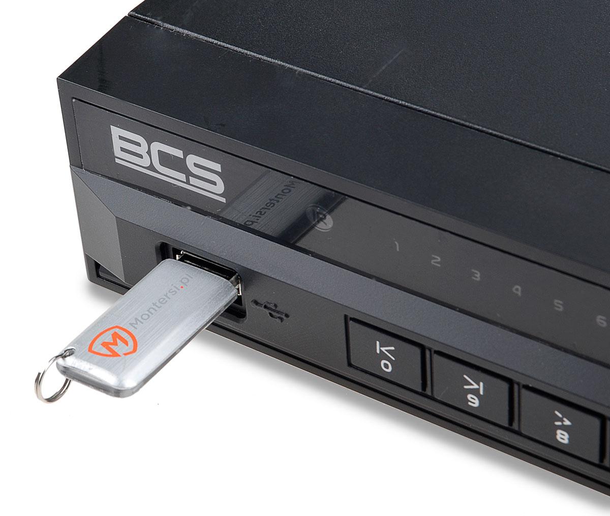 Gniazdo USB w rejestratorze BCS-NVR0802-4K-P