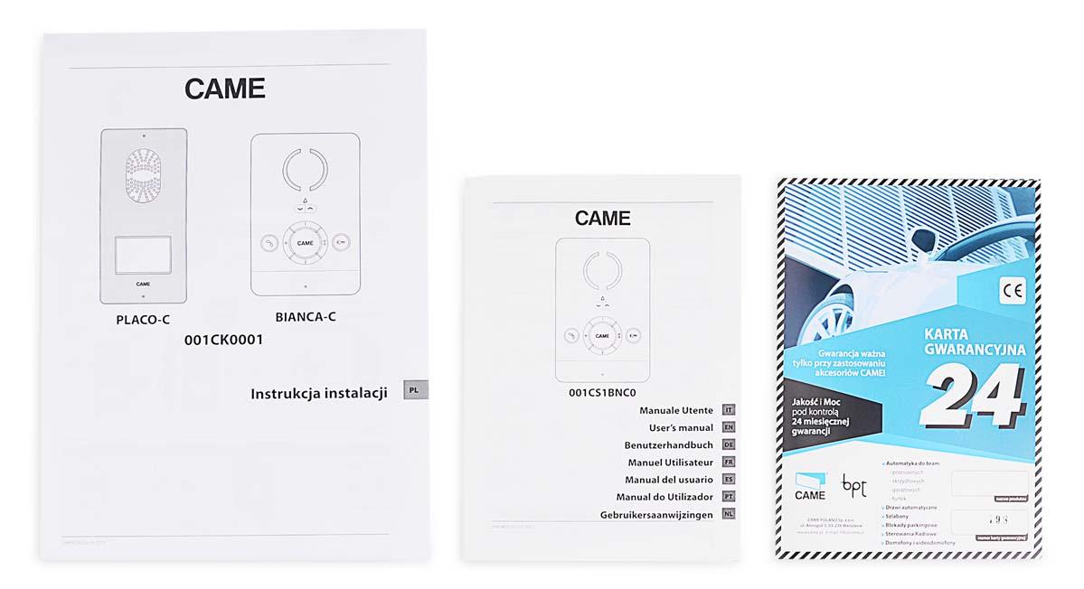 Instrukcje i karta gwarancyjna zestawu CK0001