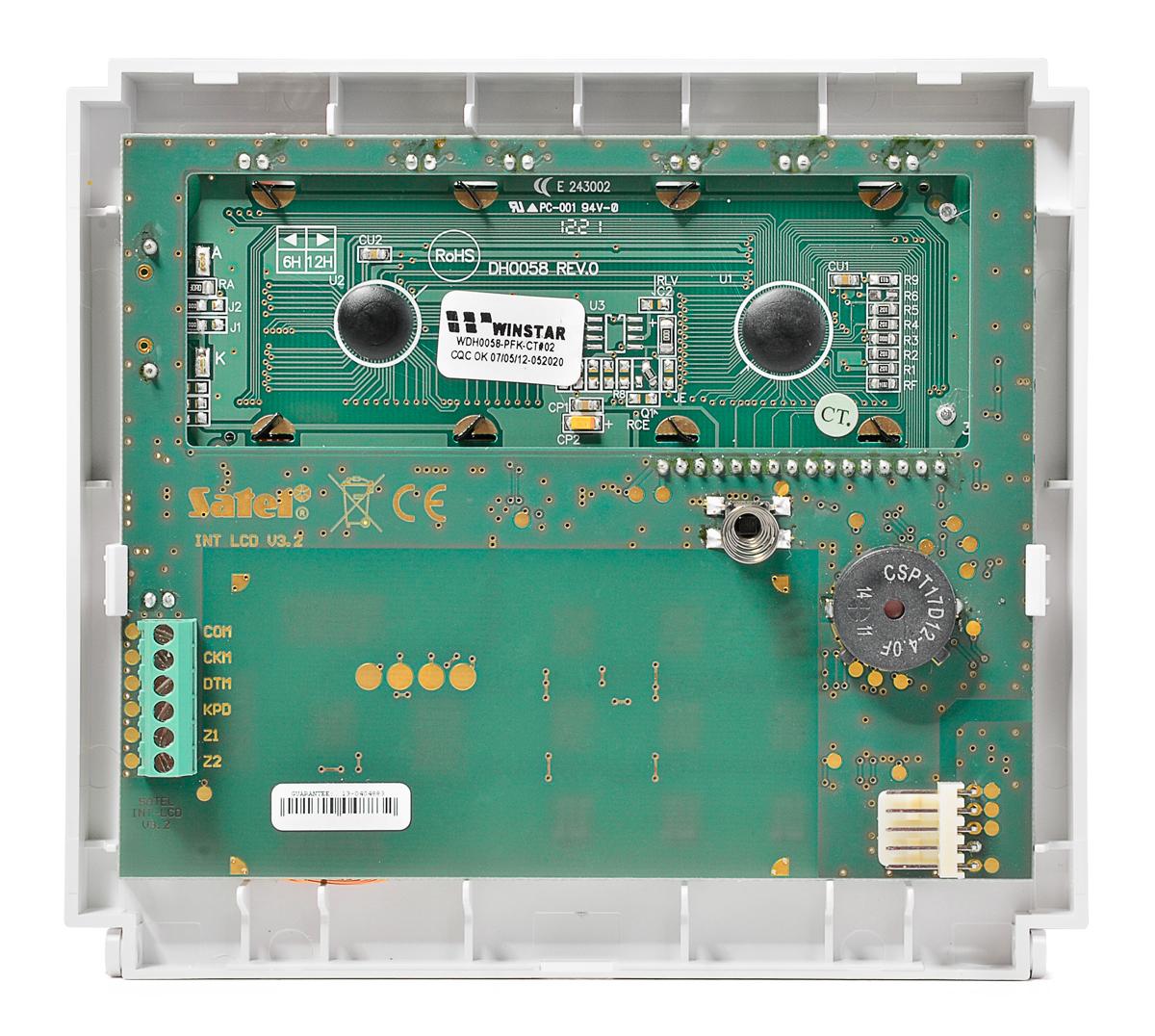 Wnętrze manipulatora INT-KLCD-GR