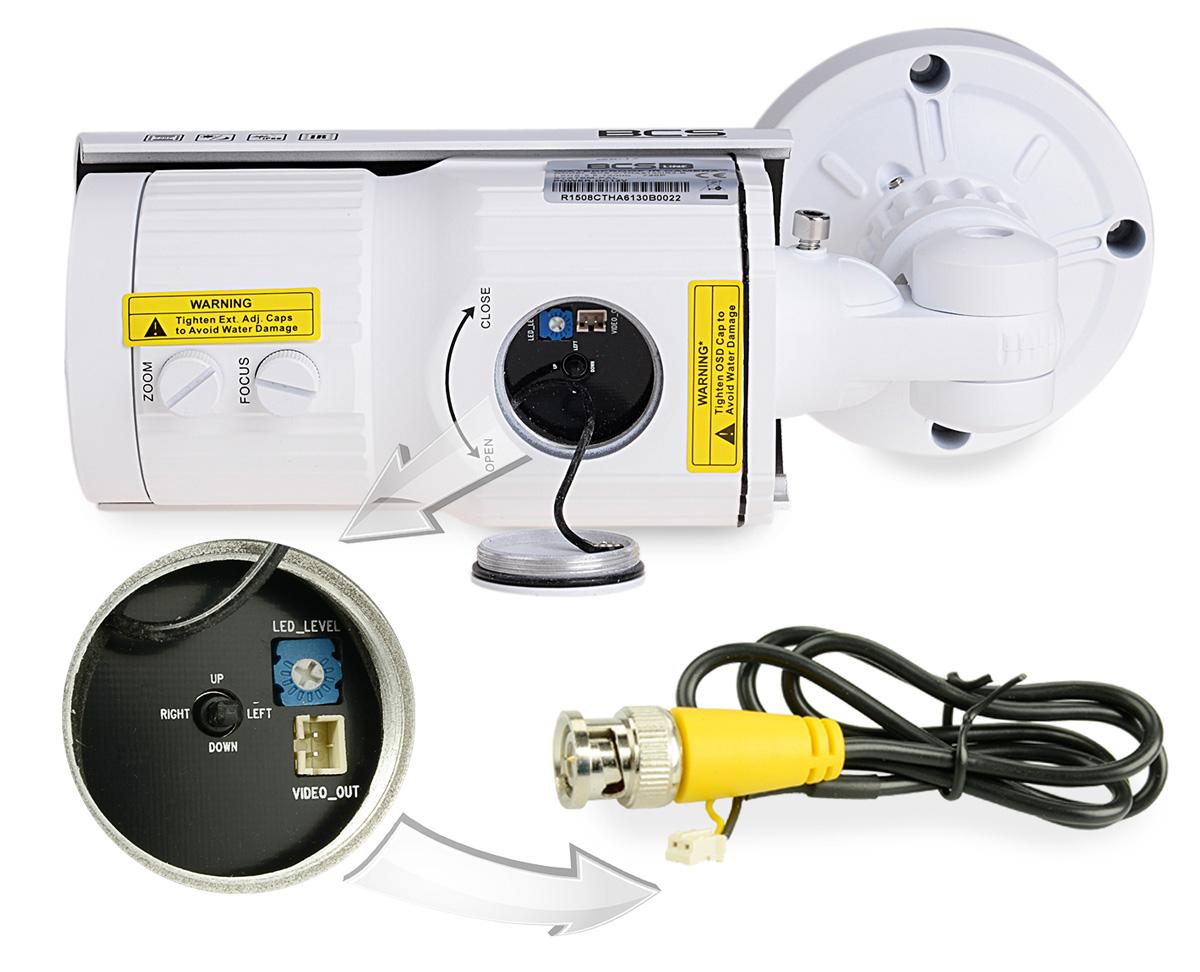 Dodatkowe wyjście wizyjne i joystick w kamerze BCS-TQE6200IR3-B
