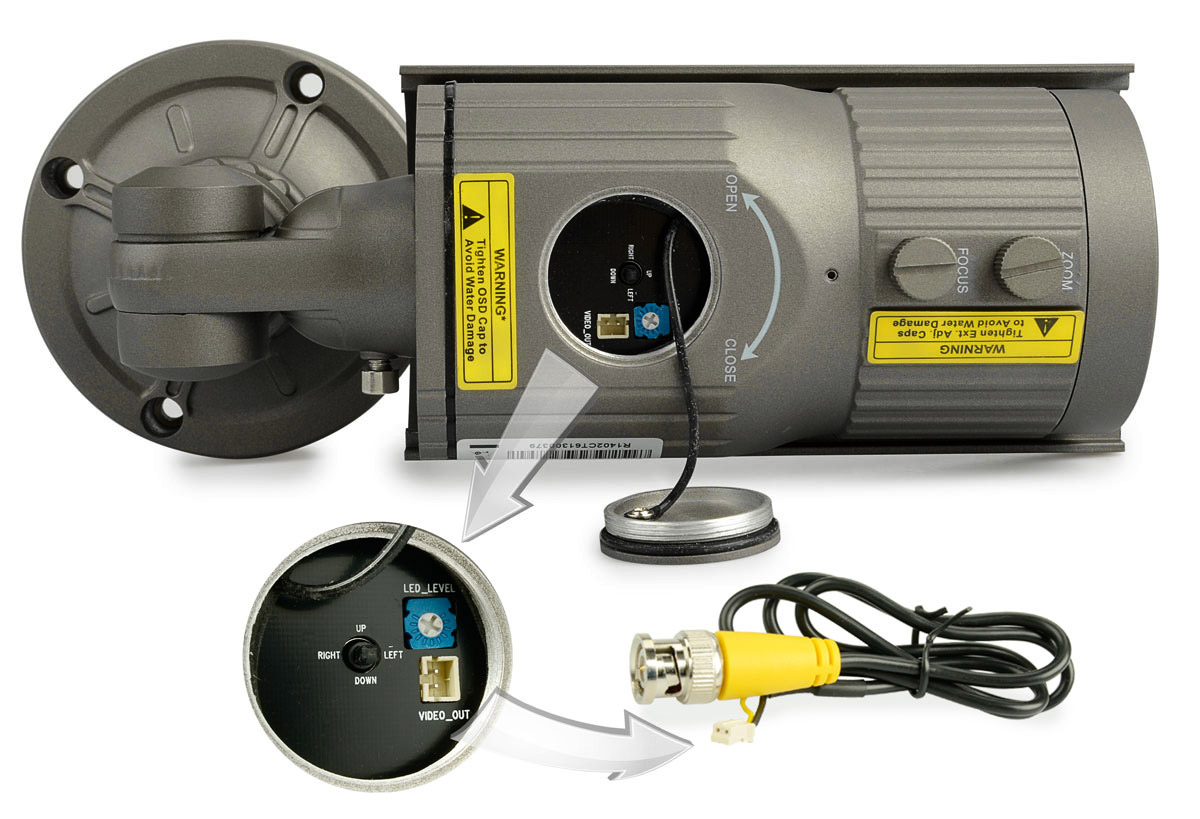 Dodatkowe wyjście wizyjne i joystick w kamerze BCS-TQE6200IR3