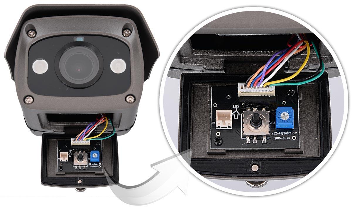 Tryb pracy kamery BCS-TQE7200IR3 można zmieniać przy pomocy joysticka