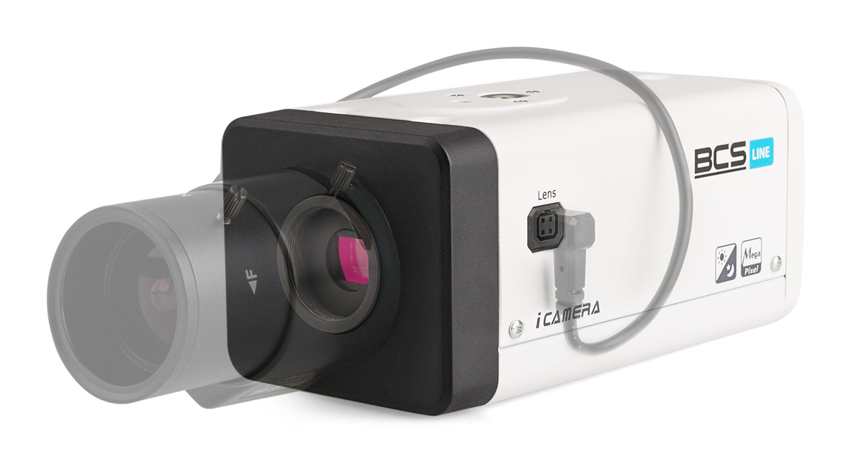 Kamera BCS-BIP7200A z przykładowym obiektywem