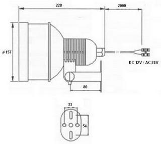 Wymiary oświetlacza LIR-CS88