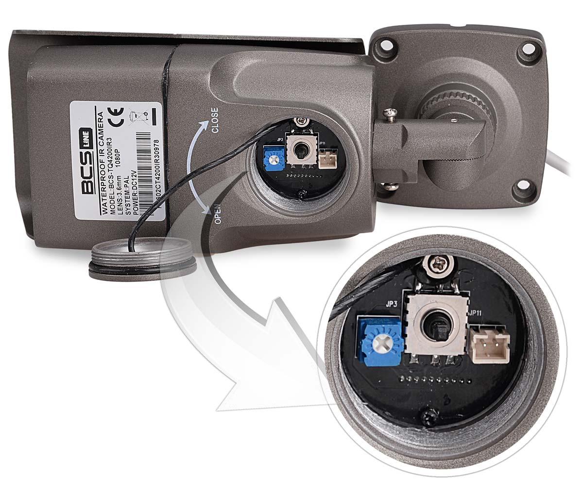Miejsce regulacji kamery BCS-TQ4200IR3
