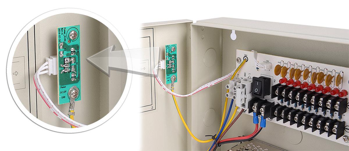 Moduł diod LED w zasilaczu 12V/10A/9O/BOX