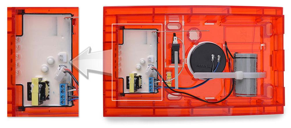 Zbliżenie na moduł elektroniki sygnalizatora ASP-100 R