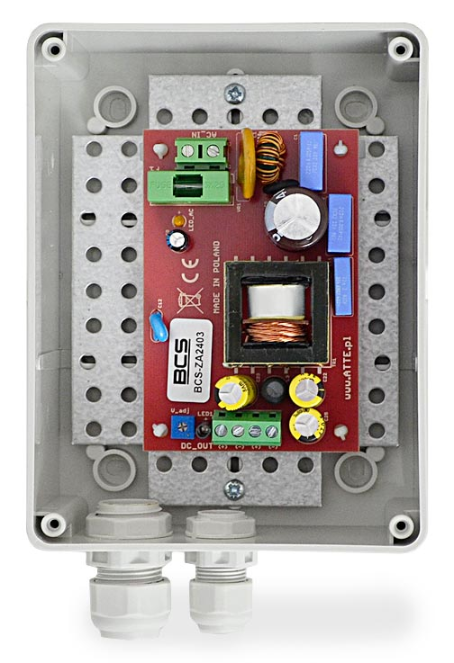 Wnętrze zasilacza BCS-ZA2403/S