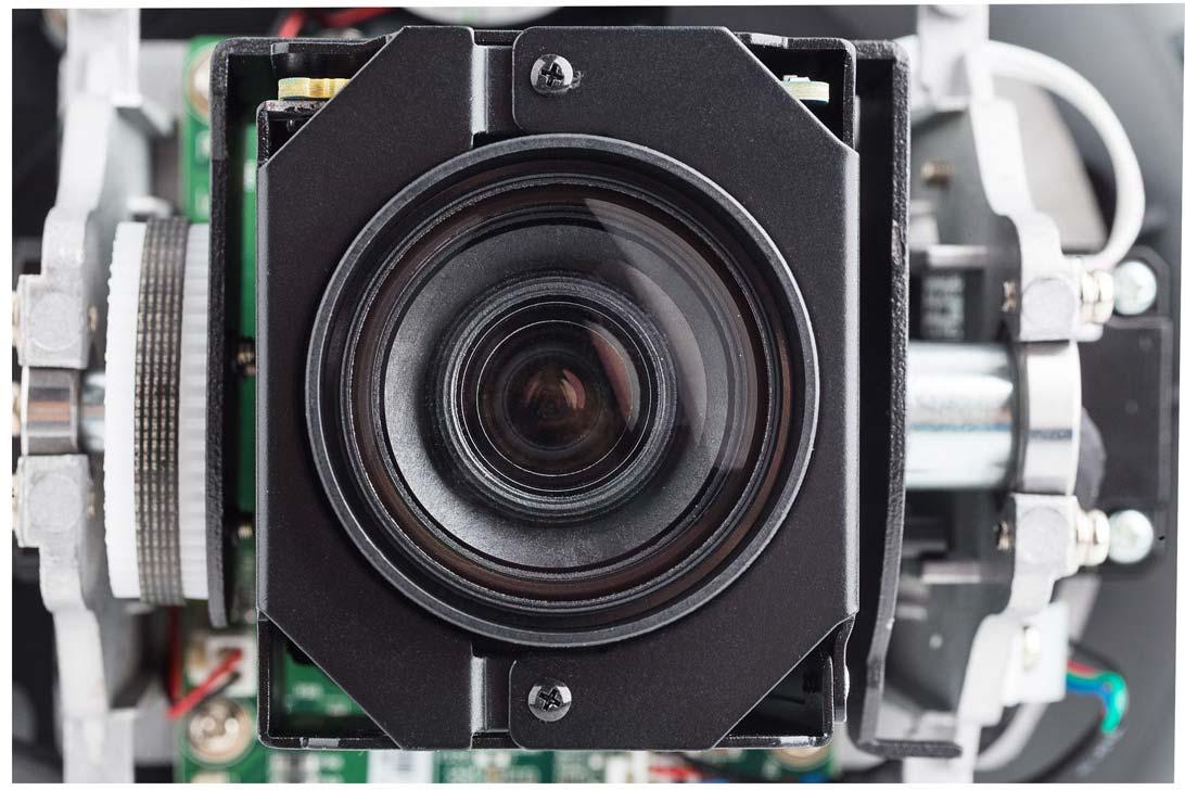 Zbliżenie na obiektyw kamery BCS-SDIP2120A