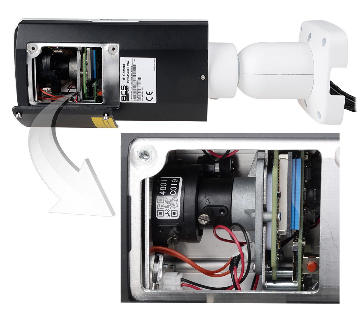 Miejsce regulacji obiektywu w kamerze BCS-P432R3S