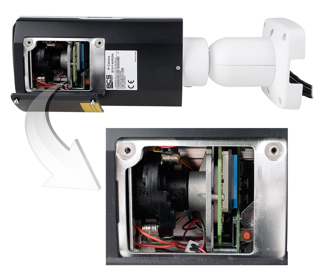 Miejsce regulacji obiektywu kamery BCS-P442R3WSA