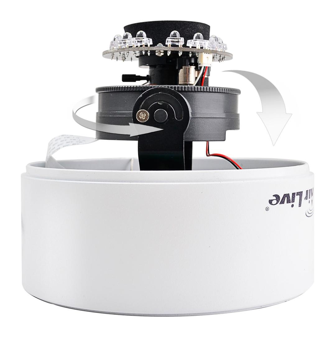 Regulacja położenia kamery OD-2050HD w pionie i poziomie