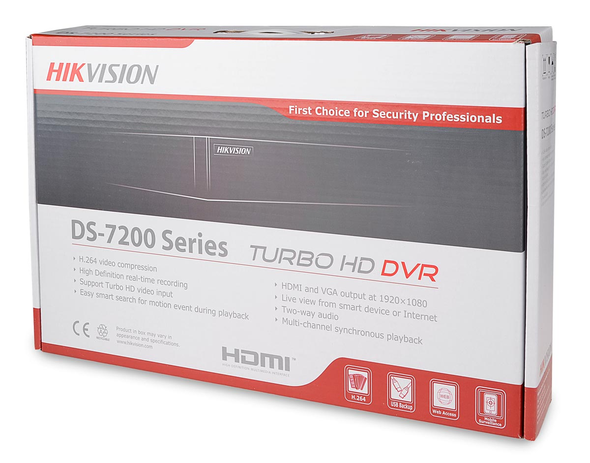 Opakowanie rejestratora DS-7204HGHI-SH/A