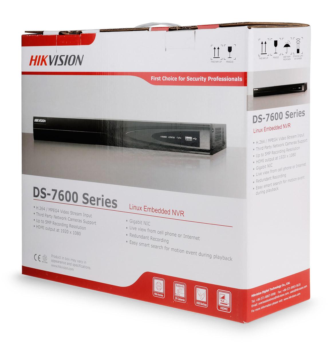 Opakowanie rejestratora DS-7608NI-E2/A