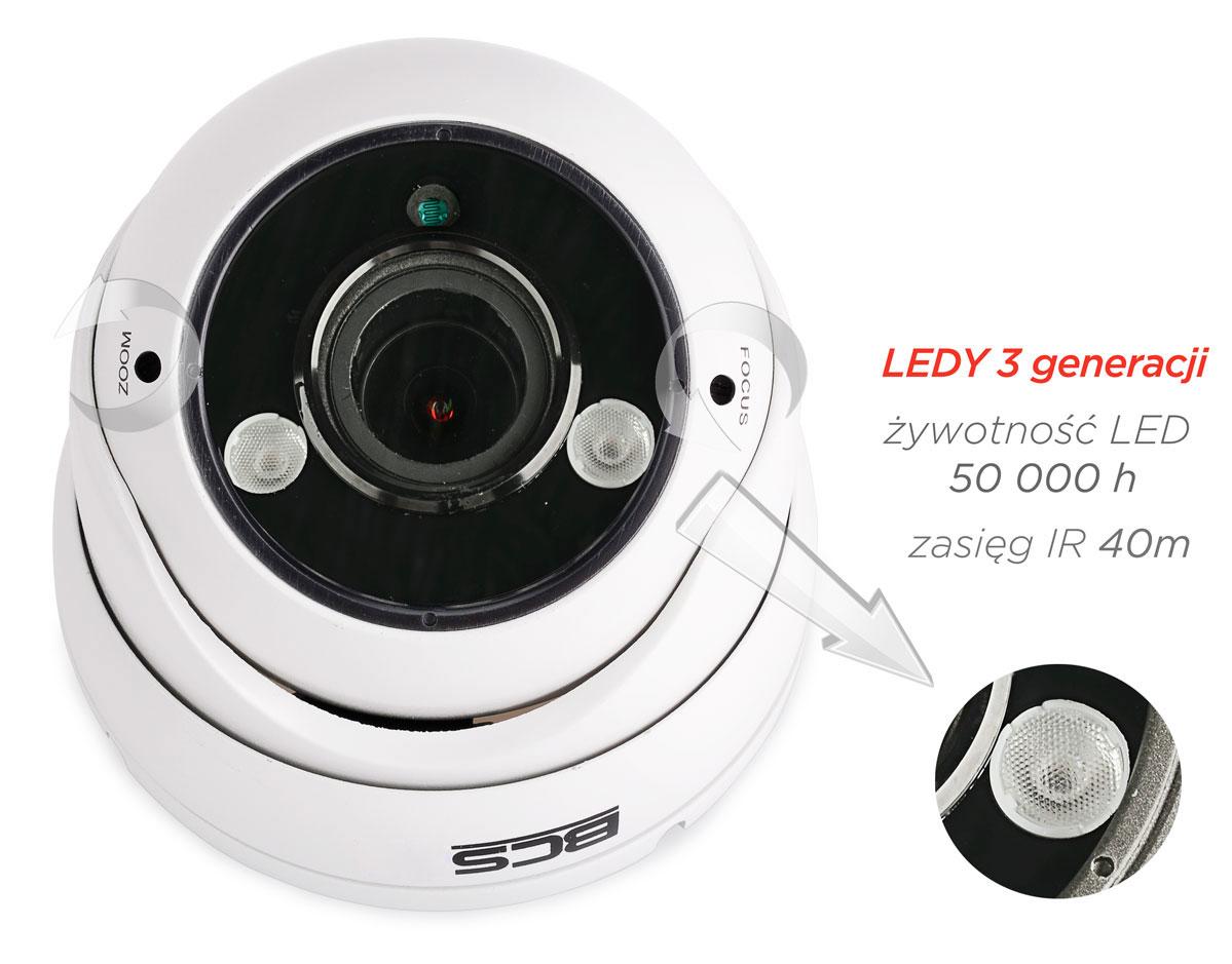 Oświetlacz podczerwieni kamery BCS-DMQ4200IR3-B