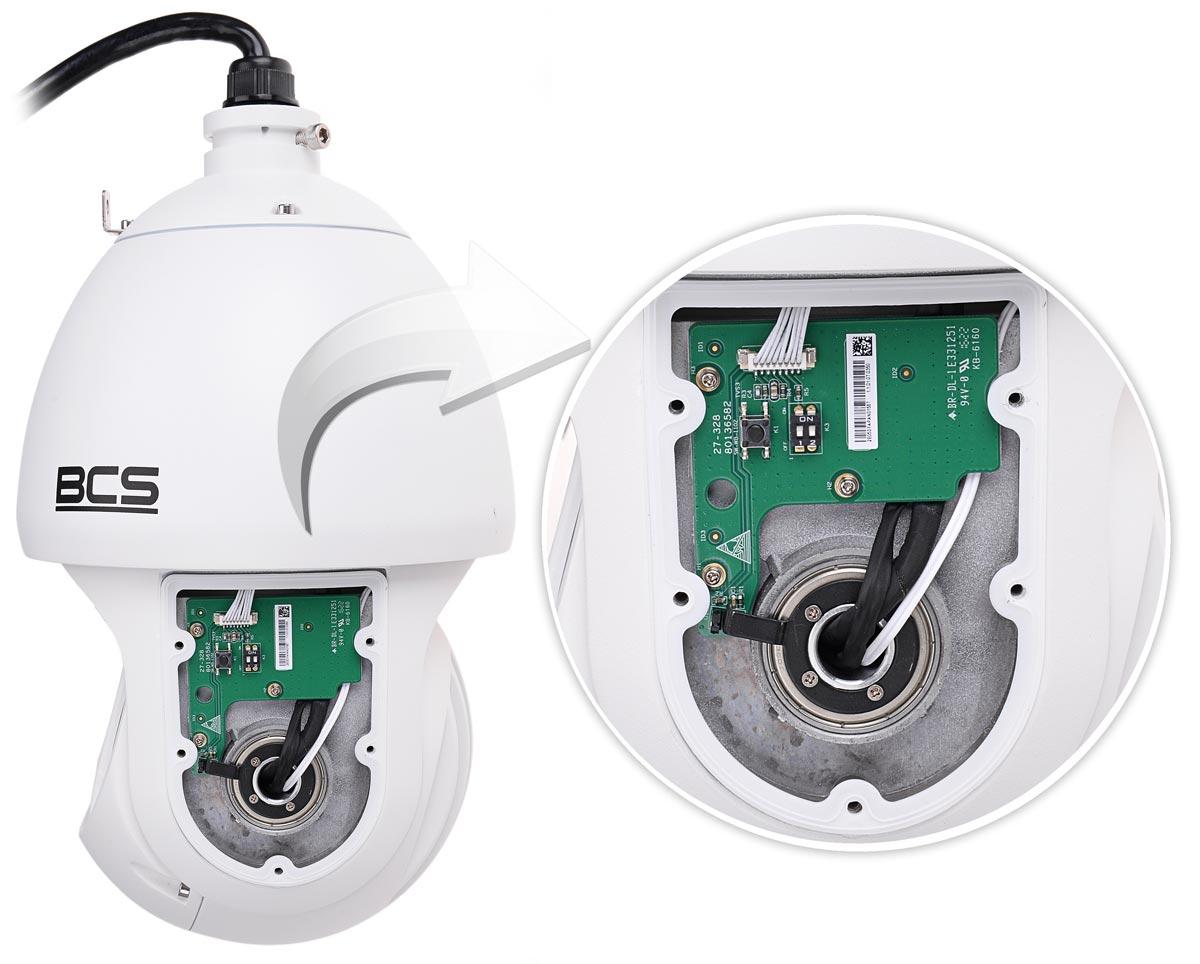 Kamera BCS-SDIP5230-II ze zdjętą powłoką