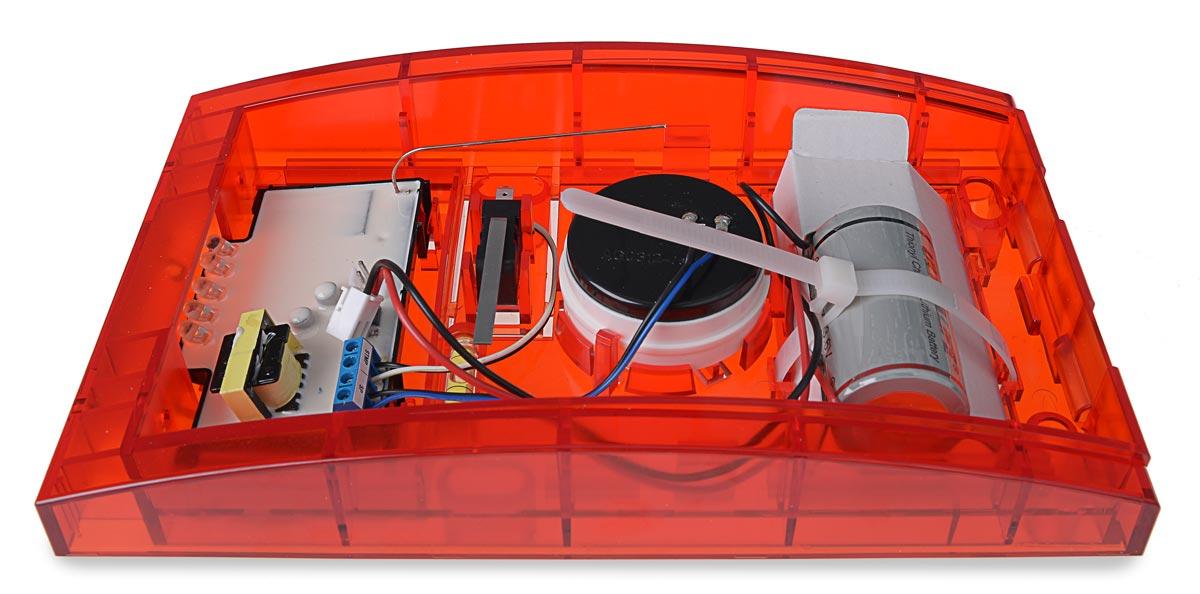 Sygnalizator ASP-100 R ze zdjętą pokrywą