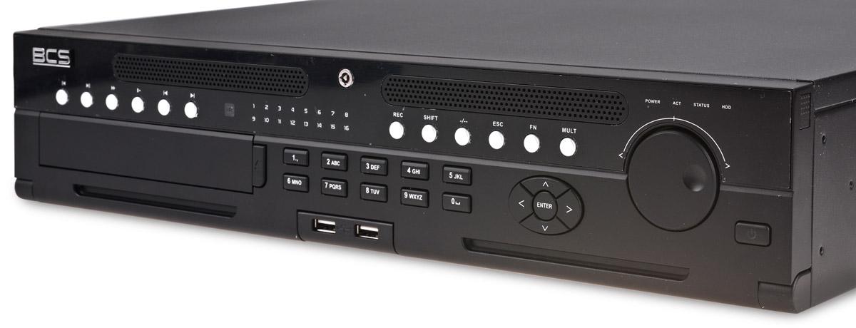 Panel frontowy rejestratora BCS-NVR12808-4K