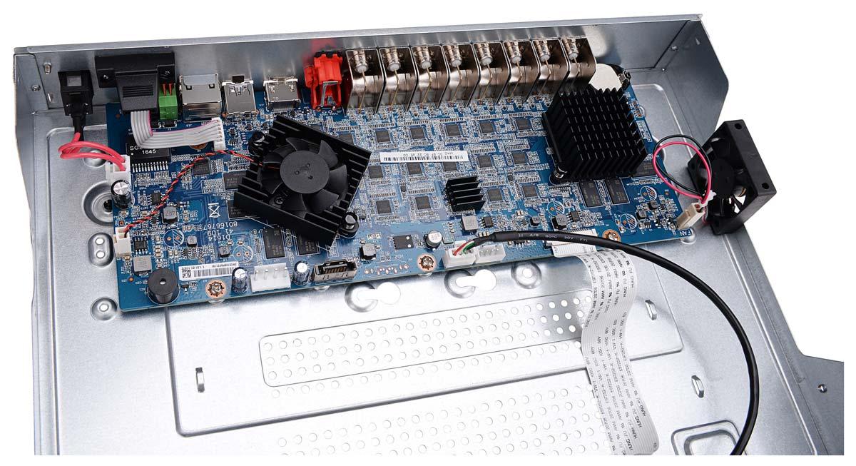Wnętrze rejestratora BCS-CVR16014M