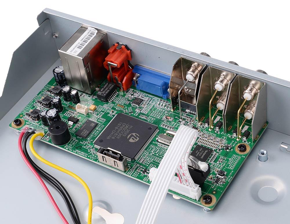 Wnętrze rejestratora BCS-QDVR0401ME