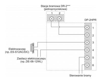 Schemat podłączenia unifonu