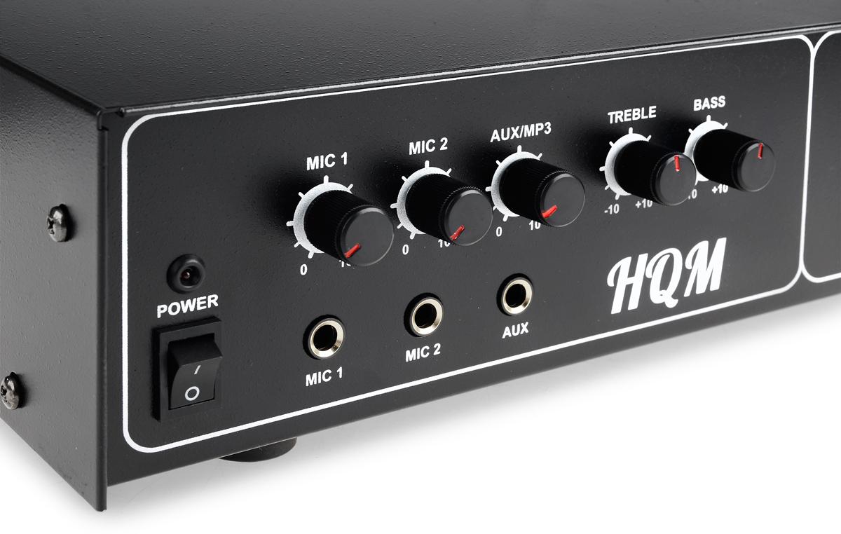Pokrętła umożliwiające łatwą obsługę wzmacniacza HQM100-RF