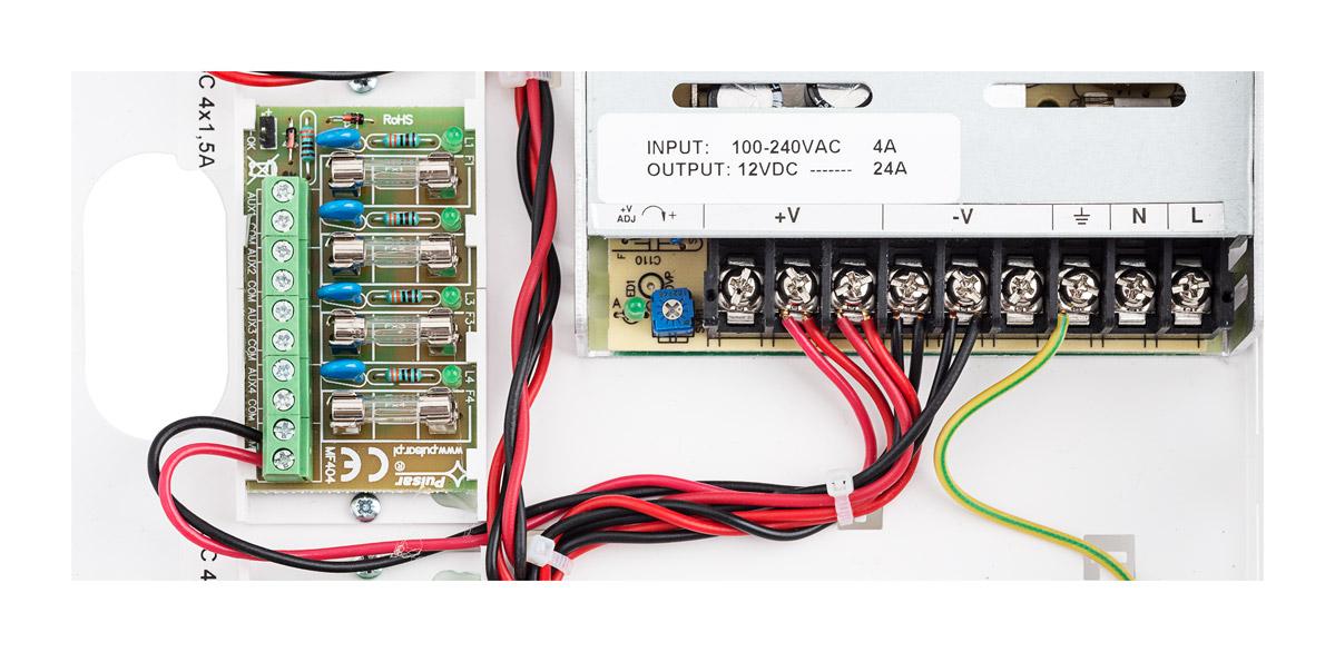 Połączenie modułu bezpiecznika z zasilaczem PSDC161224T